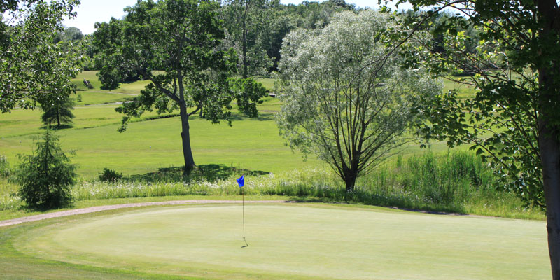 Photo of Par 5 Hole 10 at Tamarack Golf Club in Oswego, NY.
