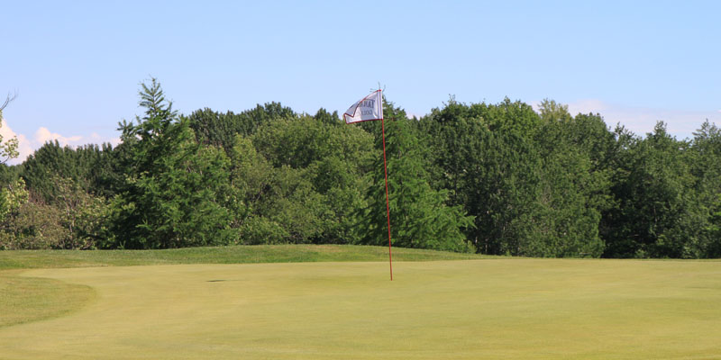 Photo of Par 4 Hole 15 at Tamarack Golf Club in Oswego, NY.