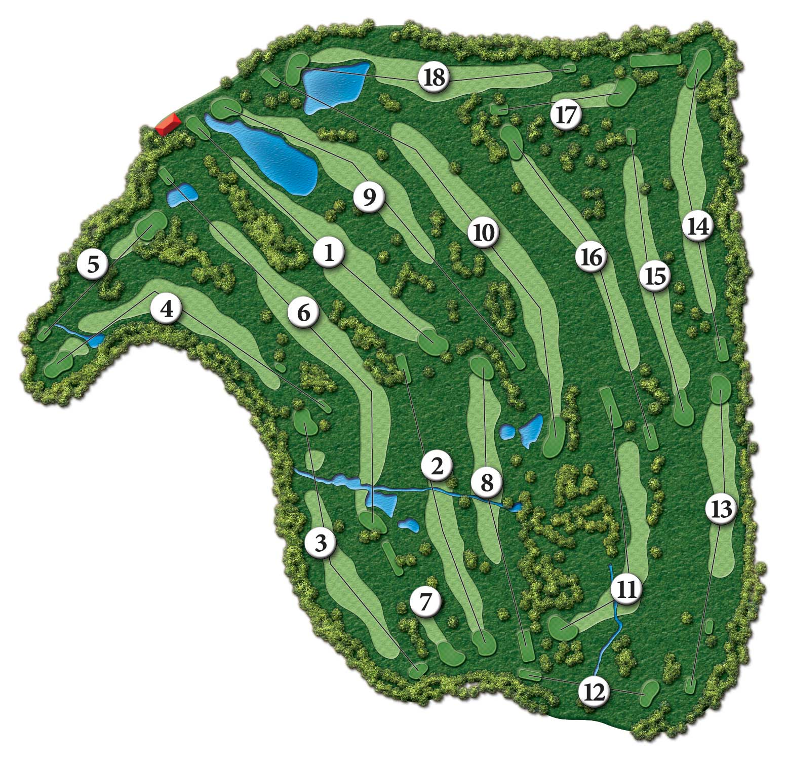 Image of the Course Map for Tamarack Golf Club.